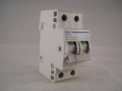 Hager Main Switch 100 Amp  Disconnector 100A Double Pole Isolator SB299