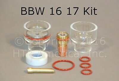 BBW 16 Pyrex Cup Kit for 17, 18 & 26 Series TIG Torch Made in the USA