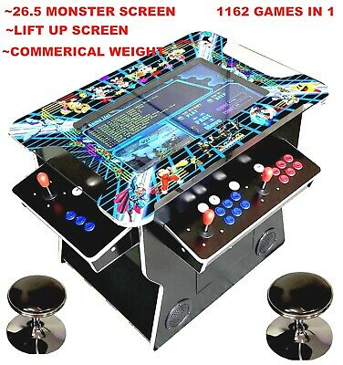 ✅ 4 PLAYER Cocktail Arcade Machine🔥1162 Classic Games ✅ 26.5 INCH SCREEN HUGE!