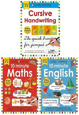 Wipe Clean Workbooks 3 Books Collection Set - 10 Minute English, 10 Minute Maths