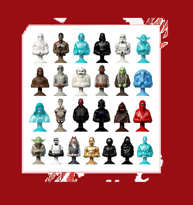 FIGURINES STAR WARS MICROPOPZ Leclerc 2017 à l'UNITE ou collection TOUTES DISPOS