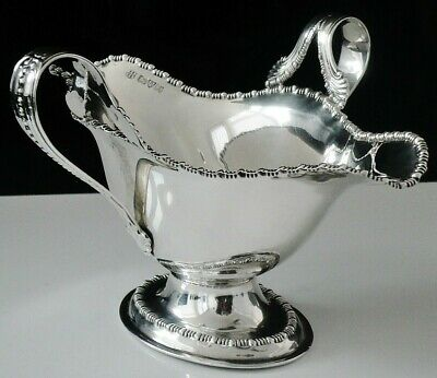 Double Lipped Double Handled Sauce Boat, Chester 1910 Barker Brothers