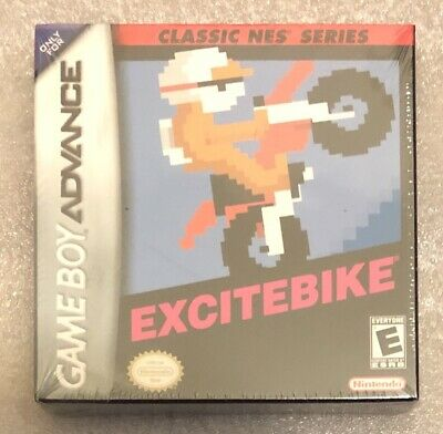 Nintendo GBA Game Boy Advance Classic NES Series EXCITEBIKE New & Sealed MISB