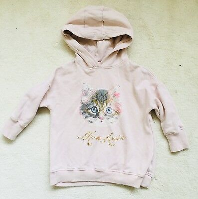 Girls Pink Sequin Patterned Hoodie Age 4 Years From Next