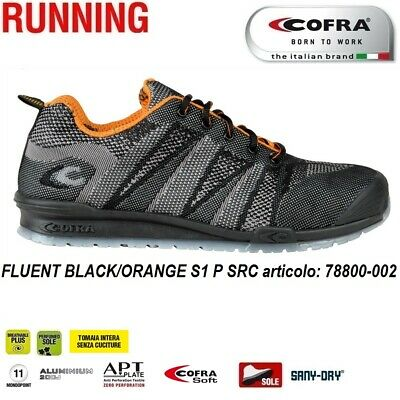 SCARPE ANTINFORTUNISTICHE COFRA FLUENT BLACK ORANGE S1 P SRC