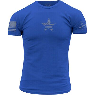 Grunt Style Basic American Star T-Shirt - Heathered Royal