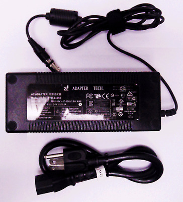AC ADAPTER  STD-24050 100-240V 47-63Hz 1.6A MAX OUTPUT 24V 5A 4PIN ADAPTER TECH