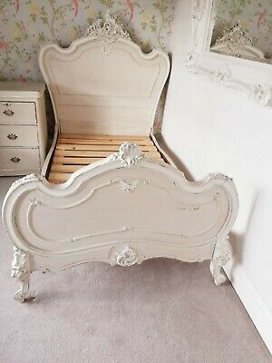 Vintage French Louis XV style bed - Large Single