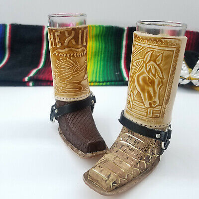 Mexican Boot Shot Glass. Bota Tequilera. Caballito. For Him For Her Set.