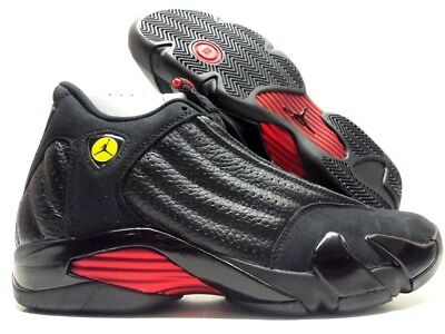 huge selection of 2a8f3 6c056 Nike Air Jordan 14 Retro Last Shot Black Varsity Red-Black Sz Men 8