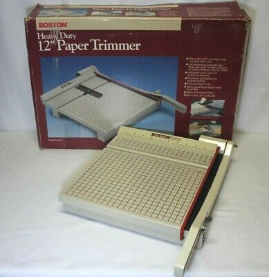 """Boston 2612 Heavy Duty 12"""" Paper Cutter / Trimmer Guillotine USA MADE"""