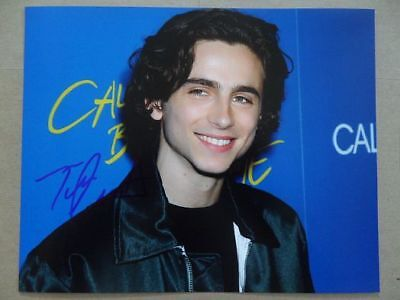 "Timothee Chalamet Signed ;Autographed Photo ""Call Me by Your Name"""
