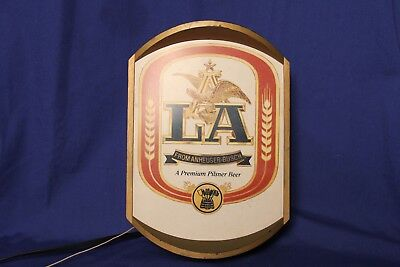 Beer Light Beer Decor Beer Sign LA from Anheuser-Busch Man Cave Brewery Works