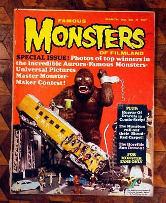 Original Vintage Horror 1965 Famous Monsters Of Filmland Magazine Issue #32