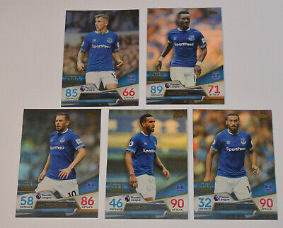 Topps MATCH ATTAX ULTIMATE TCG // 5-Card Set Team = EVERTON