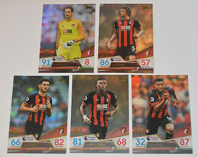 Topps MATCH ATTAX ULTIMATE TCG // 5-Card Set Team = AFC BOURNEMOUTH