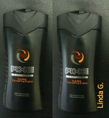 3 COUNT AXE Body Wash Dark Temptation for Men, Total Relax