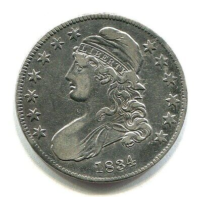 1834 lettered edge CAPPED BUST HALF DOLLAR extra fine XF