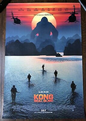 Kong Skull Island Poster Original 27 x 40 Double Sided D/S Theatrical Movie