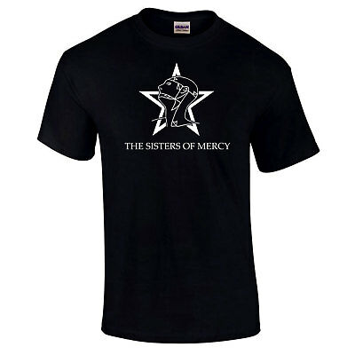 Sisters Of Mercy The World's Fin Simon Pegg Rétro 80's Rock Premium T-Shirt