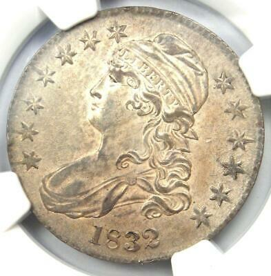 1832 Capped Bust Half Dollar 50C O-108 - NGC AU Details - Rare - Nice Luster!