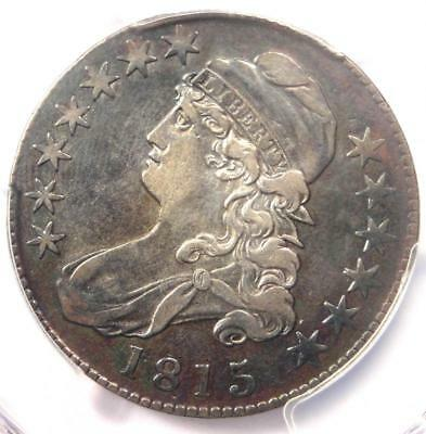 1815/2 Capped Bust Half Dollar 50C - PCGS XF Details (EF) - Rare Overdate Coin!