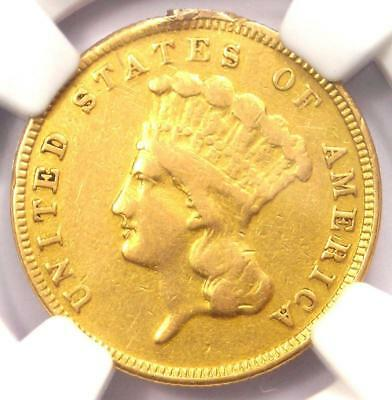 1884 Three Dollar Indian Gold Coin $3 - NGC VF Details - Just 1000 Coins Minted!