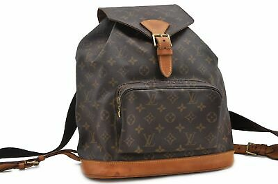 e1d9d76e17f9 Authentic Louis Vuitton Monogram Montsouris GM Backpack M51135 LV 74575