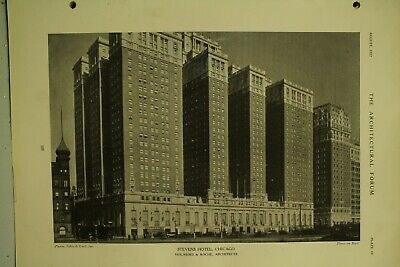 The Architectural Forum vtg old Architecture Magazine August 1927