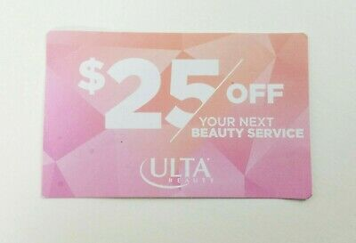 Ulta Beauty Gift Card Coupon $25 Off Salon Beauty Service In Store Expires 12/19