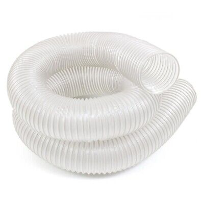 Dust Extractor Hose Universal 4 in. x 10ft. Clear Flexible Vacuum Wood Workshop