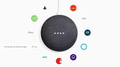 Google Home Mini Smart Small Speaker Charcoal Voice Activated 2 Pack Bundle #2