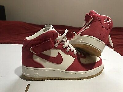 huge discount e50cd 66e7b NIKE Air Force 1 MID 07 Size 9 Men s Basketball Casual Shoes Red 315123 607