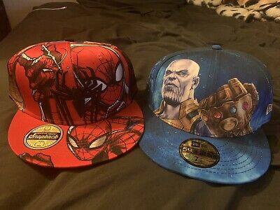 New Era Avengers Infinity War Thanos 59FIFTY Fitted Hat size 7 1/4 Endgame Snap