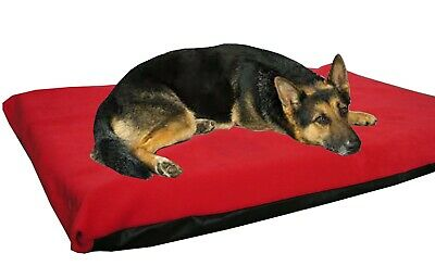 Cosipet® Large Waterproof Foam Pad Red  Fleece Dog Bed Free Spare Cover