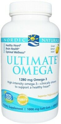 (120g, 43,77 EUR/100g) Nordic Naturals Ultimate Omega, 1280mg Omega 3 (Lemon) -