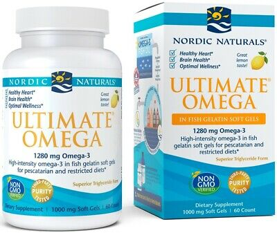 (60g, 57,15 EUR/100g) Nordic Naturals Ultimate Omega, 1280mg Lemon - 60 softgel