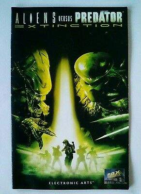 *INSTRUCTIONS ONLY Aliens Versus Vs Predator Extinction PS2 Playstation 2 Two PS