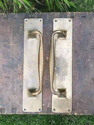 Pair Large Solid Brass Bronze Pub Shop Cafe Hotel Door Handles Pulls Stability B