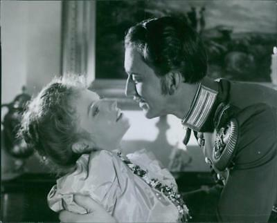 """Lauritz Falk and Vibeke Falk in the scene from the movie, """"The clock on Rönneber"""