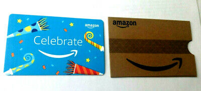 CELEBRATE amazon GIFT CARD with slip cover RECHARGEABLE NO VALUE