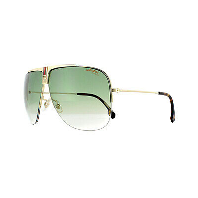 3c548c790716 NEW AUTHENTIC CARRERA 1013/S J5G9K Gold with Grey Green Sunglasses ...