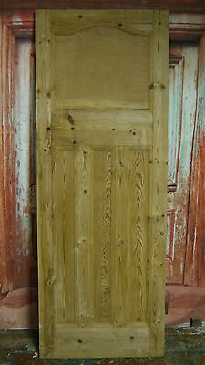 AT02b (27 3/4 x 74 3/4) 1930s / edwardian arched topped stripped solid pine door