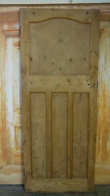 AT15 (31 3/4 x 78 3/4) 1930's / Edwardian Old Arched Topped Solid Pine Door