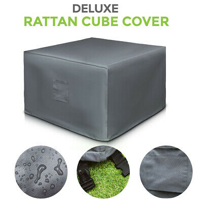 Outdoor Cover Garden Furniture Waterproof Patio Rattan Table Cube Set