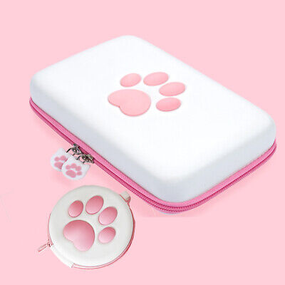 Kawai Cat Paw Nintendo Switch Carrying Case Pouch Game Cards Case Holder