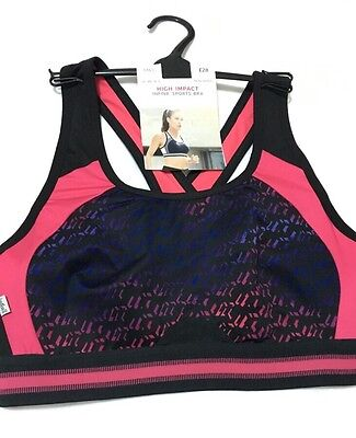 BNWT M & S Infin8 Non Padded Non Wired High Impact Sports Bra 32B