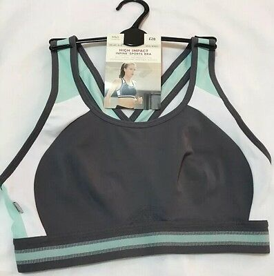 BNWOT M&S Infin8 NonPadded NonWired High Impact Sports Bra 32C