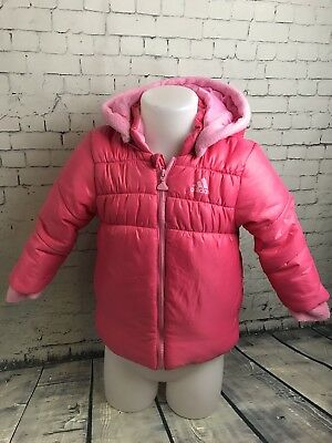 Girls Pink ADIDAS Pink Jacket AGE  3-4 YEARS Puffer Cosy Jacket Winter | A58