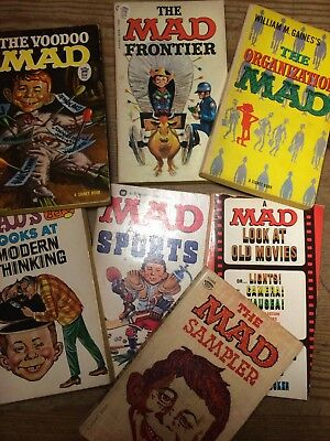 JOB LOT/BUNDLE RARE MAD PAPERBACK BOOKS OUT OF PRINT SIGNET WILLIAM GAINES 1960s